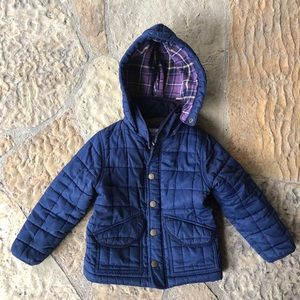 MB boy 2-3Y quilted hooded coat
